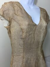 YSL Dress Snakeskin Print Yves Saint Laurent Silk Brown Size 40 France 8-10 USA