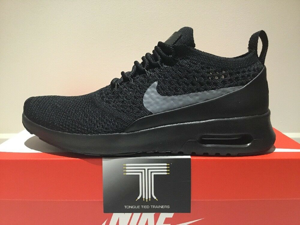 """Nike Air Max Thea Ultra Flyknit  """"Blackout""""    881175 004  Uk Size 6  Euro 40 71bec3"""