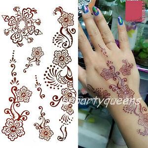 Mehndi Paisley Flower Tattoo Stickers Henna Body Art Waterproof