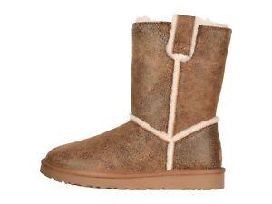 074bd17d000 Details about UGG Classic Short Spill Seam Bomber Chestnut Women's Boots  1098409
