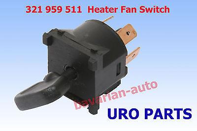 1982 1987 1988 Porsche 924 1983-1985 944 HVAC Heater Fan Blower Switch URO NEW