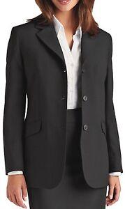 Jacket Ladies Mix Three Jersey Wool Simon Black Button YTwvqx7