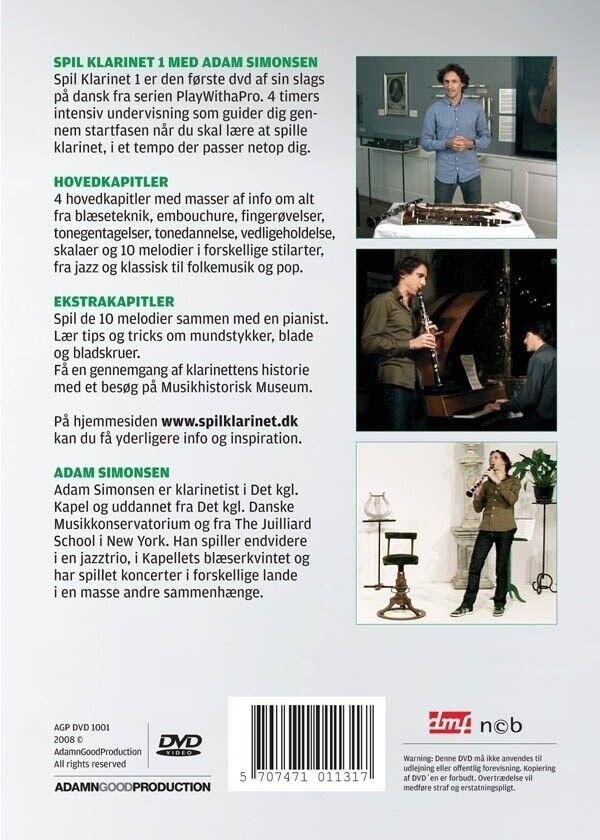 Klarinet, Spil klarinet 1 med Adam Simonsen DVD