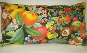 Tropical Fruits Lumbar Accent Decorative Throw Pillow Cover 11 X20 Ebay