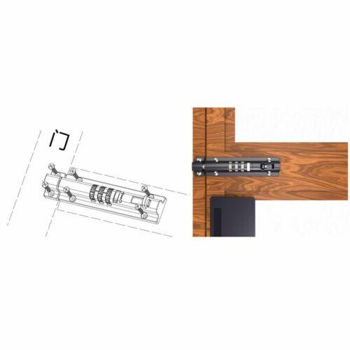 Rolson Sans clé de sécurité à 4 chiffres Combinaison Loquet de verrouillage Verrou Cadenas Garage Abri