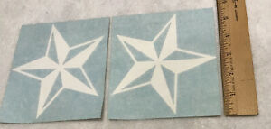 Lot Of 2 White Nautical Star Window Decals