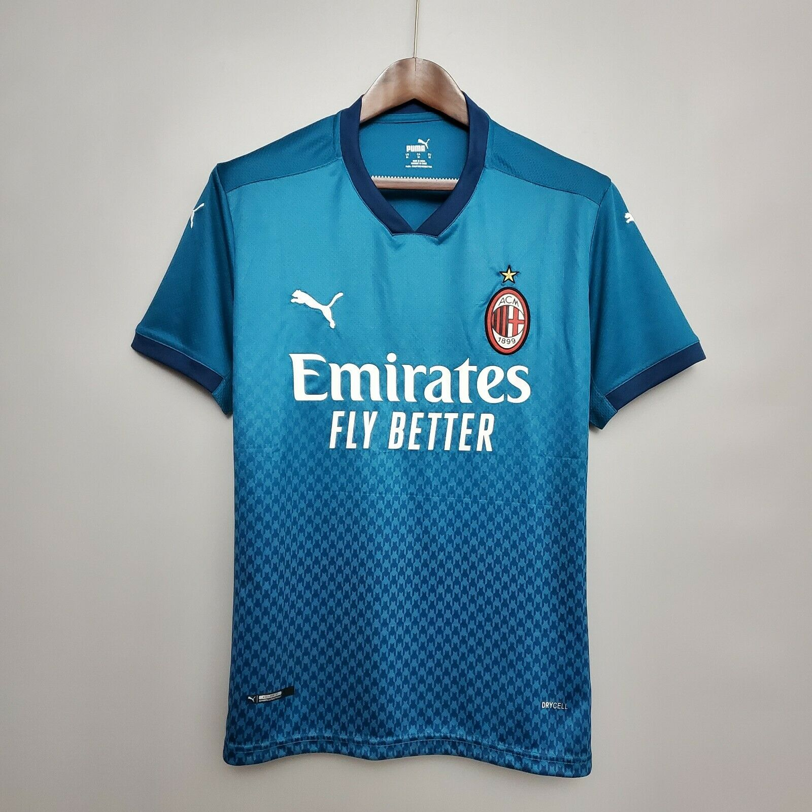 Maglia Milan personalizzata maglietta da calcio completo away terza blu verde - Shopping.com
