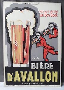 Affiche PublicitÉ : Pour RÉjouir Votre Palais Un Bon Bock De La BiÈre D'avallon Oeyw2d7s-10042937-477203773