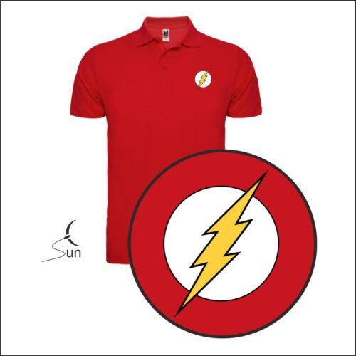 Polo T-Shirt Flash Superhero Comic Dc Funny Spaß T-Shirt Sil Ccf001p
