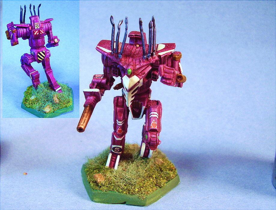 Battletech gemalt staq battlemech mwc