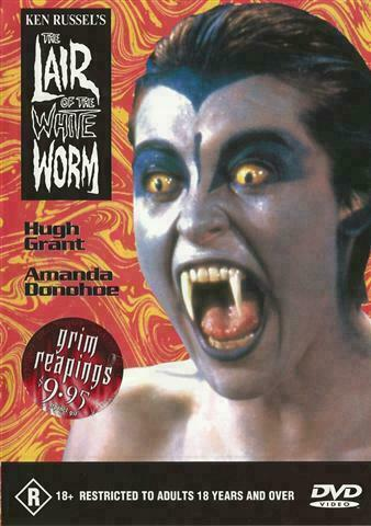 The Lair of the White Worm DVD Horror Movie Ken Russell - Hugh Grant REGION 4