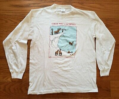 Christmas Vintage t Shirts Snowdrift Reindeers Spandex Top Small