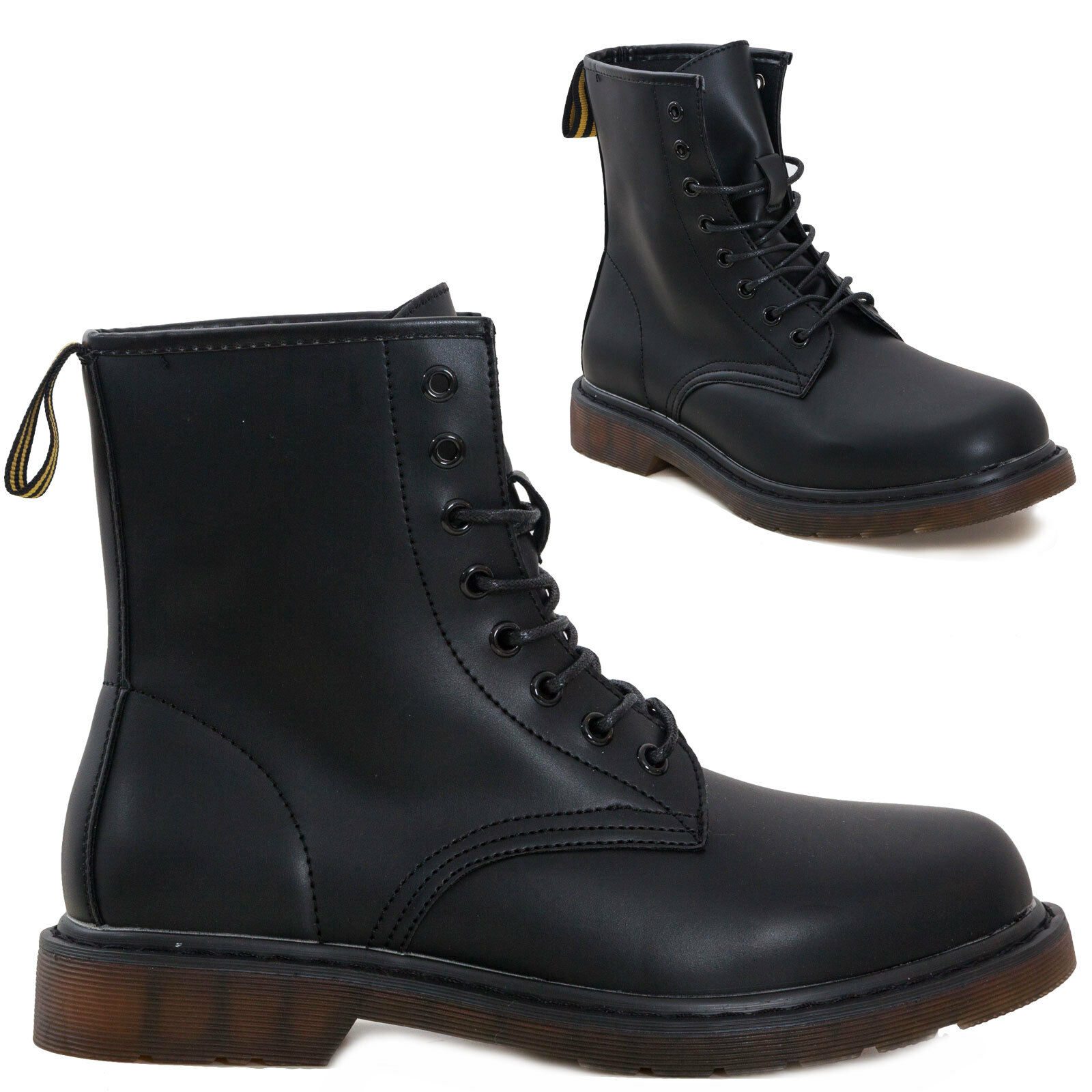 Men's shoes booties combat boots ankle boots motorcyclist laced biker Y1800