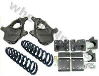 Chevy Drop Spindles Springs Flip Kit 07-15 1500 V8 2wd 4/6 Suspension Lowering