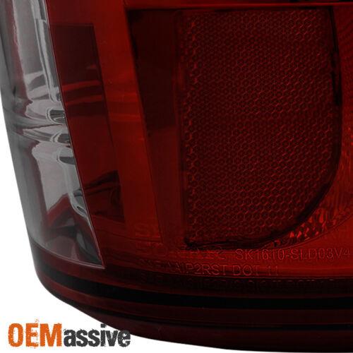Fits 2003-2006 Silverado Sierra 1500 2500HD 3500 Red Smoke LED Tail Brake Lights
