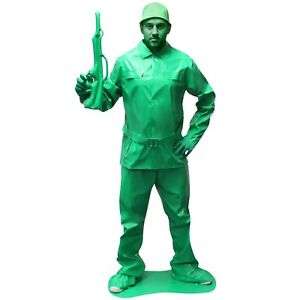 Mens-Toy-Soldier-Fancy-Dress-Costume-Military-Army-Outfit-Saving-Private-Morph