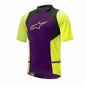 Image is loading Alpinestars-Drop-2-Short-Sleeve-Jersey-Purple-acid- c721cee30