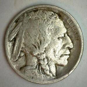 1913-P-Type-I-Buffalo-Nickel-Indien-Tete-Cinq-Centimes-Nous-Type-Monnaie-F-2