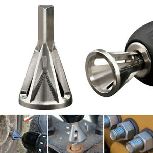 HOT-Stainless-Steel-Deburring-External-Chamfer-Tool-Drill-Bit-Remove-Burr-Silver