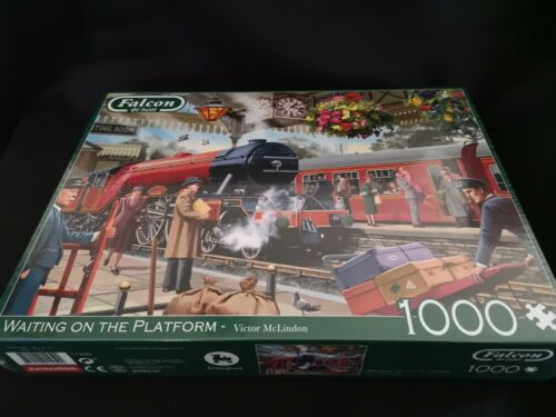NEW AND SEALED FALCON DE LUXE WAITING ON THE PLATFORM JIGSAW PUZZLE-1000 PIECE