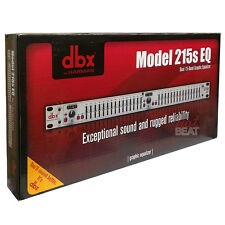 DBX 215S Dual 15-Band Professional Quality Graphic EQ Equalizer 691991401220