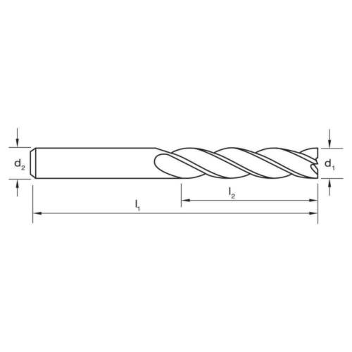 """8/% Cobalt Steel Long Sutton E1270318 1//8/"""" x 1//4/"""" 4 Flute Endmill"""