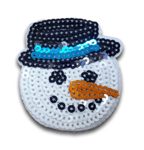 Xmas Christmas Snowman Iron Sew On Patch Applique Motif Up to 40/% Off