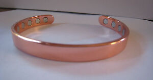 Pure-Copper-Magnetic-Bracelet-Men-Women-Arthritis-Pain-12-magnets-Cuff-New