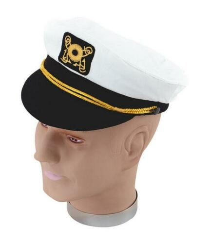 Captain Hat Sea Marine Peaked Cap Sailor Fancy Costume For Women Mens JD