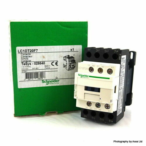 20 A LC1DT20F7  4 Pole Contactor TeSys D,4NO 110 V ac Coil 029840