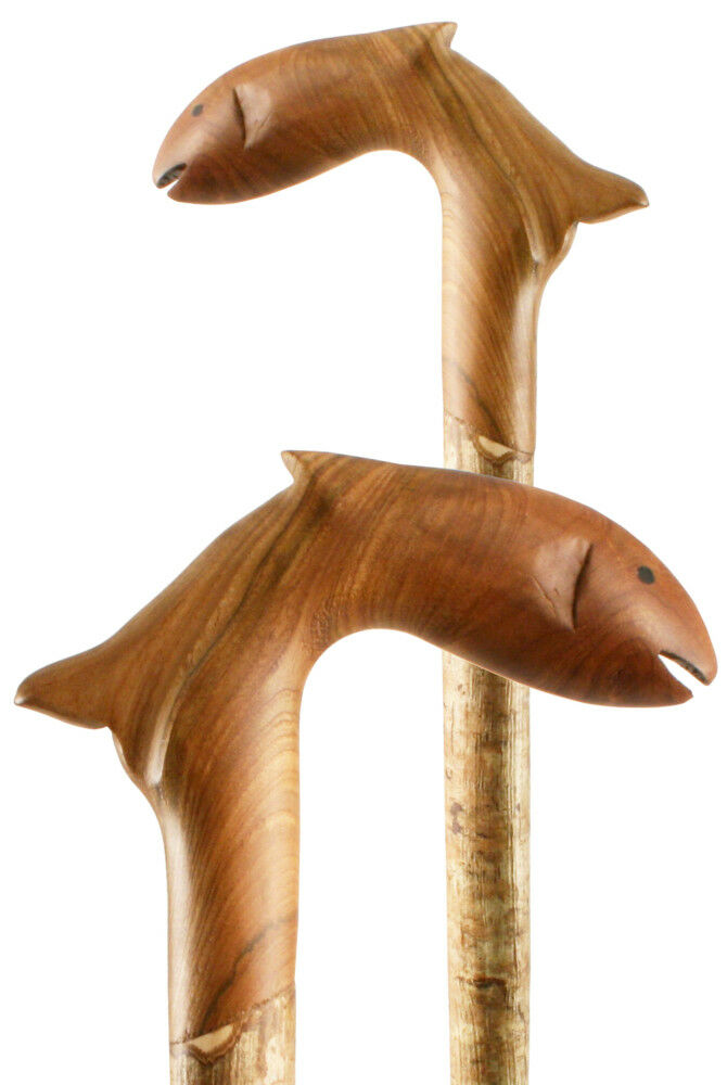 Classic Canes Hand Carved Trout Staff