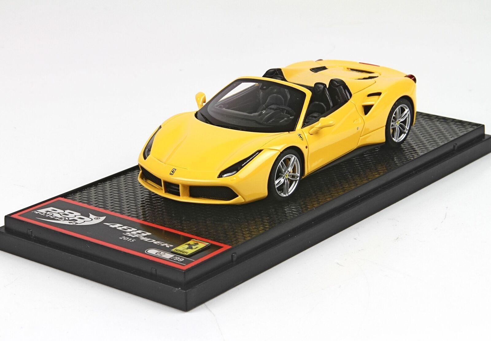 Ferrari 488 Spider 2015 amarillo Modena amarillo BBR 1 43 BBRC173B