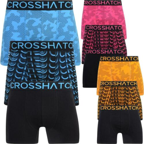 3 Pack Mens Crosshatch Camo Boxers Shorts Underwear Trunks Multipack Set New