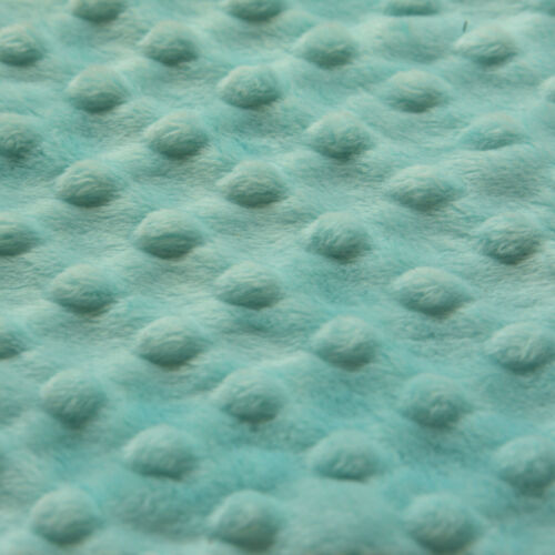 """MINKY MINKEE POLYESTER CHENILLE FABRIC CUTE HOT PINK RAISED EMBO DOTS 60/""""Wx36/""""L"""