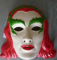 Batman Poison Ivy Light Weight Plastic Costume Mask Rubies Licensed