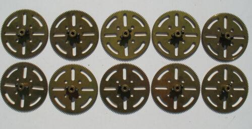 10x MÄRKLIN 10595 Messing Zahnrad mit Schrauben 64mm für Baukasten 95 Zähne