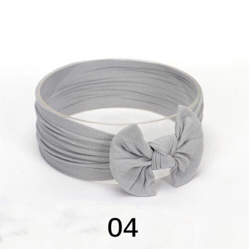 Baby Mädchen Kinder Bowknot Turban Nylon Stirnband elastisches Haarband Headwrap