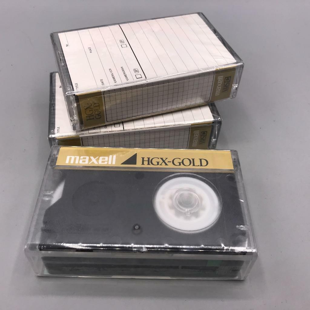 Maxell VHS-C HGX-Gold Premium High Grade Blank Camcorder Tapes Pack of 3