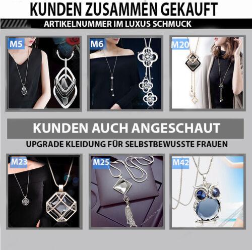 Damen Halskette Mode Schmuck Kette lang 75cm mit Anhänger Vintage Frauen M23