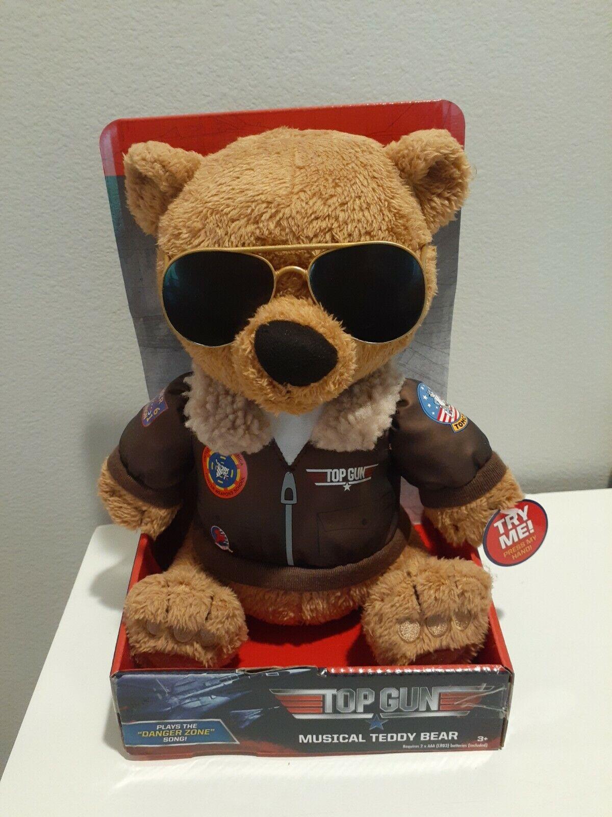 Top Gun Musical Teddy Bear Sings Danger Zone Maverick Tom Cruise Theme Song