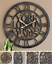 Large-Metal-Skeleton-Roman-Numeral-Wall-Clock-Black-Round-amp-Square-Shape-40-60cm thumbnail 7