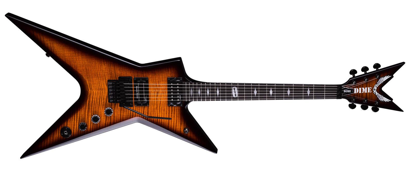 Dean 6 Cuerdas Dimebag Stealth Floyd Guitarra Guitarra Guitarra Eléctrica de Arce de la llama y Estuche BRASILIA fe98fe