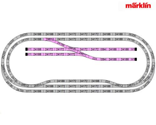 Märklin 24905 C-voie complément conditionnement c5 nouveau en OVP