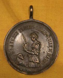 MEDAGLIA DEVOZIONALE  VOTIVA RELIGIOSA S.AGNESE   relic reliquia