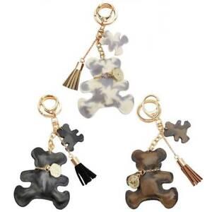Fashion-Teddy-Bear-Leather-Tassel-Key-Ring-Car-Bag-Charm-Keychain-Keyring-Gi-Hot