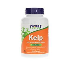 Kelp, NATURAL IODINE, 150mcg x200 Vtabs, 24Hr Despatch, Now Foods