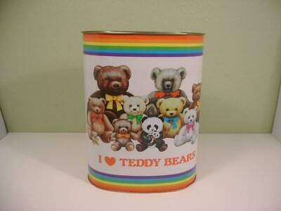 Care Bear Tin Toy Bin New! Vintage Care Bear Garbage Can 2002