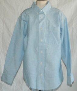 dbf20d7d7b82 Boys Button Down Light Blue Dress Shirt By Class Club Easy Care Size ...