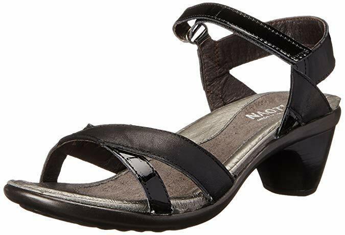 Naot Footwear Cheer Jet Negro Sandalias De Cuero US 41