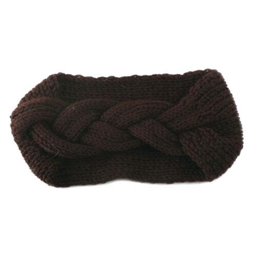 Frauen Mädchen Gestrickt Stirnband Häkeln Kopfwickel Ohr Winter Warm Accessoires
